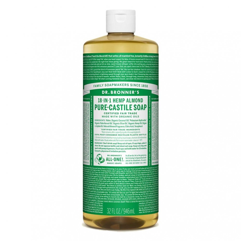 Dr Bronner Liquid Soap 32 oz. Almond