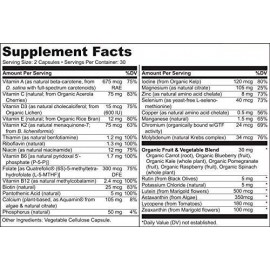 NATURELO Whole Food Multivitamin for Teens 60 veg. cats