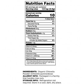 Terrasoul Superfoods Organic Chlorella Powder 6 Ounces
