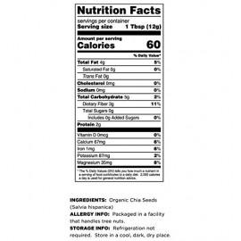 Terrasoul Superfoods Organic Black Chia Seeds 8oz.