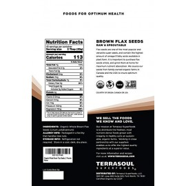 Terrasoul Superfoods Organic Brown Flax Seeds 32oz.
